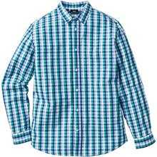 Bonprix Koszula w kratę Regular Fit zielono-niebiesko-biały w kratę