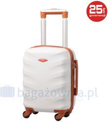 Kemer Bardzo mała walizka EXCLUSIVE 6881 XS Biało brązowa - biały / brązowy