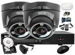 BCS IVELSet Zestaw do monitoringu: CVR0401-III + 2x Kamera DMQE3200IR3+ Dysk 1TB + Akcesoria ZM7554