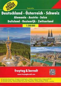 Freytag&Berndt Niemcy, Austria, Szwajcaria atlas samochodowy, 1:300 000