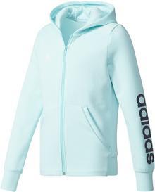 Adidas dziecięca bluza z kapturem YG Linear Full Zip Hoodie Energy Aqua/Collegiate Navy/White 170