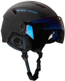 Black Crevice kask narciarski z wizjerem, dla dorosłych, czarny, XS BCR143824-BB-XS_schwarz/blau_XS