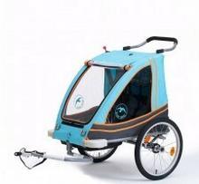 Blue Bird Przyczepka rowerowa BLUE BIRD aluminiowa lekka, dla dzieci 2w1+ wózek, składana, pełna amortyzacja 21157509