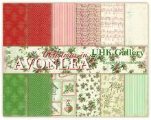 Papier Christmas in Avonlea 30,5x30,5 cm - zestaw
