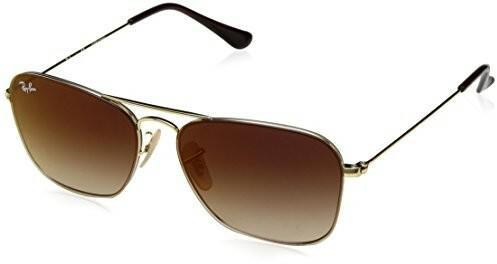 Ray Ban Okulary przeciwsłoneczne RB 3603 złoty Brown tekst cieniowany  unisex 0RB3603001 S056 423cd7213f52