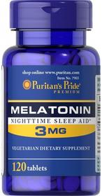 Puritans Pride Melatonina 3mg 120 tabletek