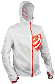 Compressport KURTKA M TRAIL HURRICANE JACKET WHITE WSTR-LS00