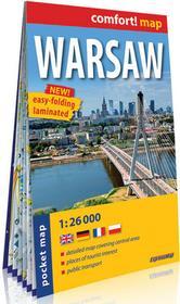 ExpressMap comfort! map Warsaw laminowany plan miasta kieszonkowy praca zbiorowa