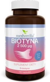 MEDVERITA Biotyna - witamina B7 (H) 2500mcg (180 kapsułek)