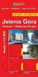 praca zbiorowa Jelenia Góra, Karpacz, Szklarska Poręba plan miasta skala 1:15 000 9788374751636