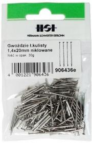Grene z łbem kulistym stalowe niklowane 1 4 x 20 mm 30 g