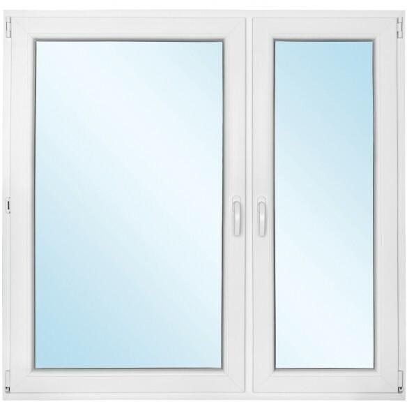 Okno PCV rozwierne + rozwierno - uchylne 1465 x 1435 mm prawe
