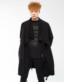 Synthetic 100%natural Płaszcz Dyplomata Czarny