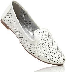 Bonprix Buty wsuwane biały