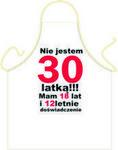Fartuszek Urodzinowy 30 dla Niej Fur30o