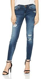 True Religion True religia dżinsy damskie Skinny hali Blue Denim Destroyed  - Skinny 29W / 32L