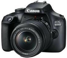 Aparat CANON EOS 4000D + Obiektyw 18-55mm + Torba + Karta pamięci