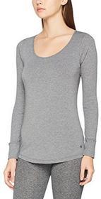 Marc O'Polo Body & beach koszulka damska koszulka LS -  40 (rozmiar producenta: L) szary (grau-mel. 202) B0713SPPVL