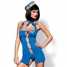 Obsessive Kostium stewardessa - Air Hostess Costume Blue L/XL
