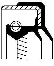 CORTECO Pierścień uszczelniający wału, skrzynia przeniesienia n CORTECO 01035432B