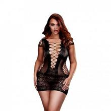 Baci Lingerie Koszulka sukienka - Corset Front Lace Mini Dress Queen Size