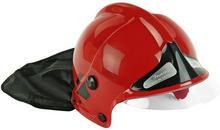 KLEIN 8901 Kask Hełm strażacki MSA z opuszczaną szybką czerwony 8901
