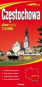 Częstochowa - papierowy plan miasta w skali 1: 22 000 - Praca zbiorowa