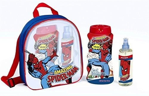 Marvel The Amazing Spiderman zestaw EDC, 2 in 1 pianka Bad, szampon i torba na prezenty, 1er Pack (1 X 3 sztuki) 2518