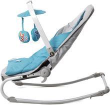KinderKraft Leżaczek 2w1 Felio blue