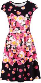 Bonprix Sukienka czarny w kwiaty