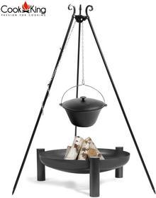 Cook King Kociołek żeliwny na trójnogu 11l + palenisko Palma 70cm