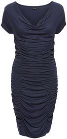 Bonprix Sukienka z drapowaniem ciemnoniebieski