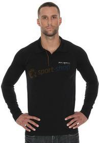 Brubeck T-shirt męska polo długi rękaw Prestige (czarny) LS10620-prestige