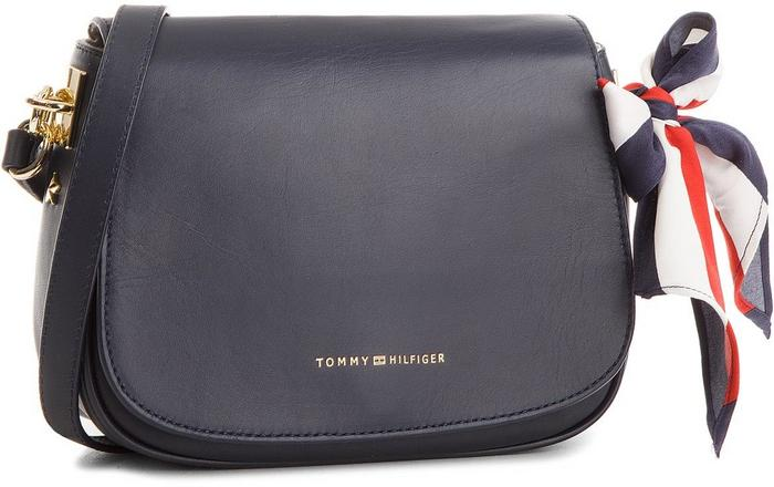 b98f853529afa Tommy Hilfiger Torebka Iconic Foulard Leather Saddle Bag AW0AW04960 413 –  ceny, dane techniczne, opinie na SKAPIEC.pl