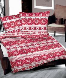 Bielbaw Pościel bawełniana Świąteczna Czerwona
