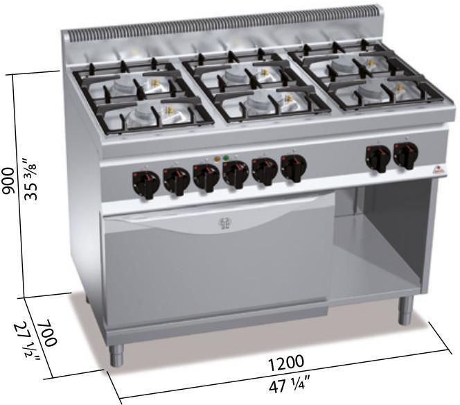 Berto S Kuchnia Gazowa 6 Palnikowa Z Piekarnikiem Elektrycznym