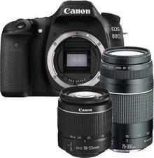 Canon EOS 80D + 18-55 DC III + 75-300 DC III