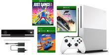 Microsoft Xbox One S 500 GB Biała + Kinect + Forza Horizon 3 + Hot Wheels +  Just Dance 2018 + XBL 6 m