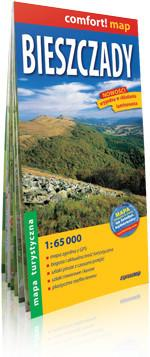 ExpressMap praca zbiorowa comfort! map Bieszczady. Laminowana mapa turystyczna 1:65 000