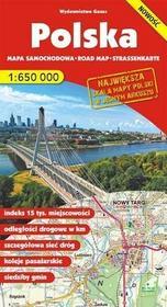 GAUSS Polska - mapa samochodowa (skala 1:650 000) - Opracowanie zbiorowe