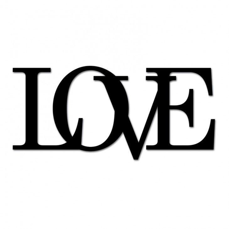 DekoSign Napis na ścianę LOVE LOVE1-1