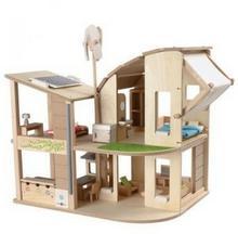 Plan Toys Ekologiczny domek dla lalek z mebelkami PLTO-7156 8854740071569