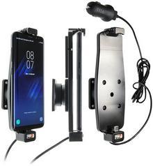 Brodit AB Uchwyt do Samsung Galaxy S8 w futerale z wbudowanym kablem USB oraz ładowarką samochodową 521964