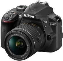 Nikon D3400 + AF-P 18-55 VR + 55-200 VR czarny