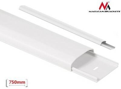 Maclean Listwa maskująca do kabli MC-695 W 60 x 20 x 750mm plastik, systemowa