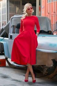 Sukienka JASMINA RED 002012-42