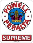 POWELL PERALTA naklejka POWELL PERALTA SUPREME OG MEDIUM STICKER Red/White/Blue