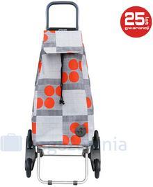 ROLSER Wózek na zakupy RD6 Mountain Logos - szary / czerwony