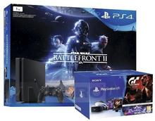 Sony PlayStation 4 Slim 1TB Czarny +PlayStation VR + Star Wars Battlefront II + Gran Turismo Sport + VR Worlds