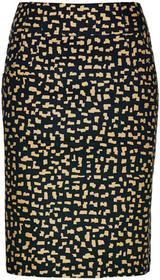 Bonprix Spódnica z nadrukiem czarno-cappuccino z nadrukiem